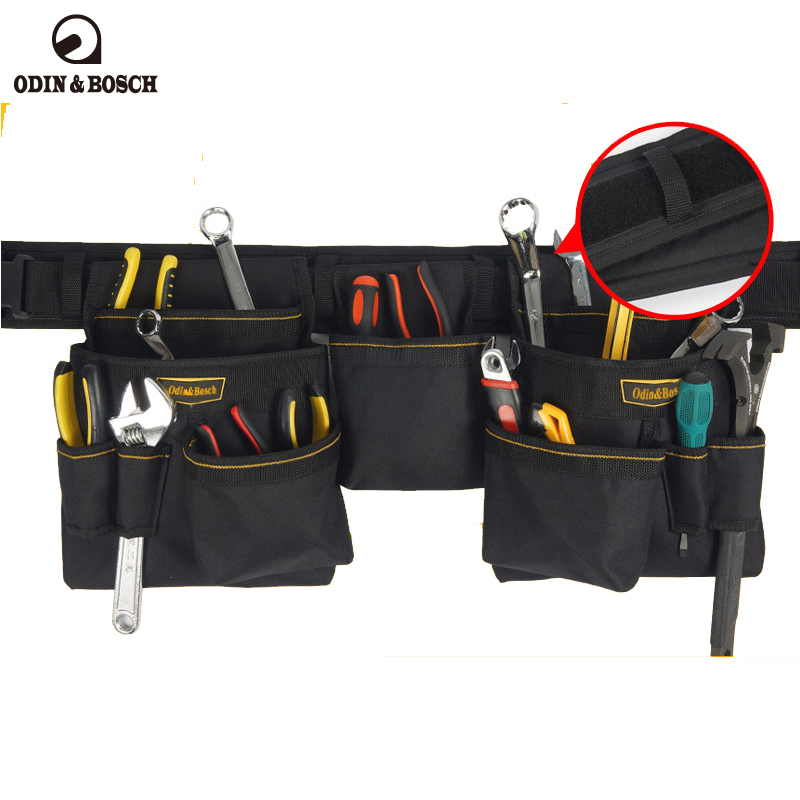 Odin&Bosch Weak power construction bag Multi - functional double hanging waist bag high-altitude maintenance pocket bag luxury construction