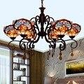 Tiffany Barock Glasmalerei Ausgesetzt Leuchte E27 110 240V Kette Anhänger lichter für Home Parlor Esszimmer-in Pendelleuchten aus Licht & Beleuchtung bei