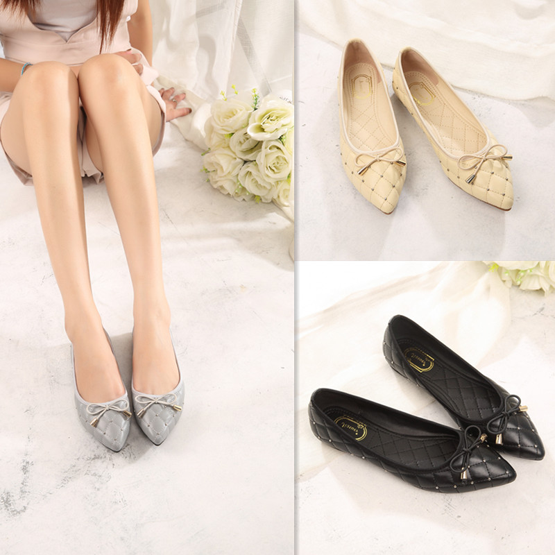 Spring Fashion Women Shoes Pointed Toe Slip-On Flat Shoes Woman Comfortable Single Casual Flats Size 35-41 zapatos mujer women flats slip on casual shoes 2017 summer fashion new comfortable flat shoes woman loafers zapatos mujer plus size 35 42
