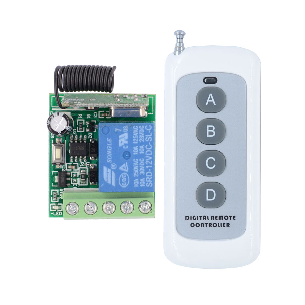 DC 12V Timer Remote Switch Time Delay Ajustable RF Wireless Controller Power ON OFF Relay Contact Remote 5s 10s 15s time delay dc 12v delay relay delay turn on delay turn off switch module with timer mar15 0
