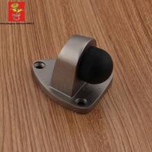 Wholesale 10PCS Zinc alloy Triangular Base Door Stop Satin Nickel Door Stopper Floor Door stops