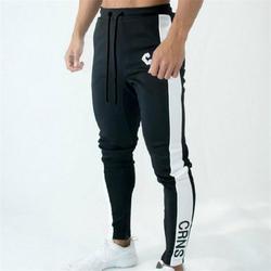 Серые Беговые брюки полосатые мужские брюки для бега спортивные мужские зауженные брюки хлопковые мягкие спортивные штаны тренажерный