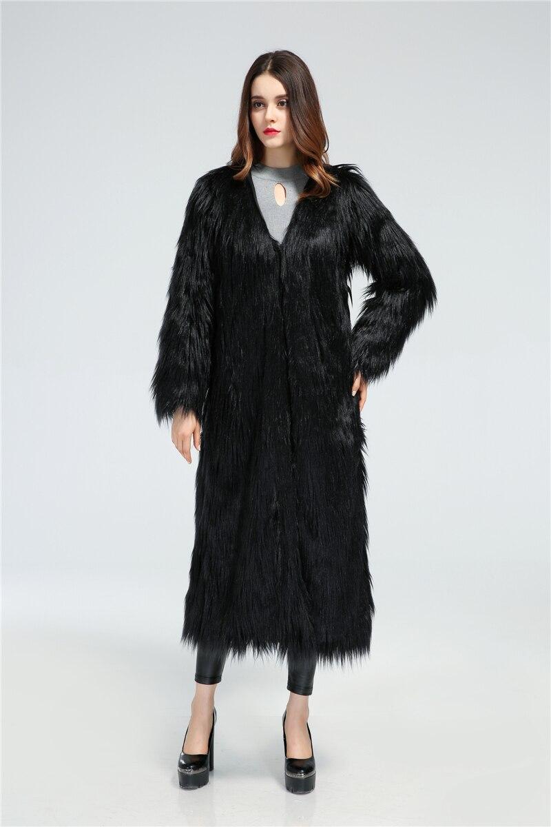 Manteau extra long noir femme