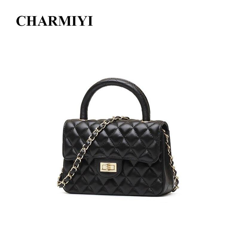 CHARMIYI Women Mini Real Leather OL Handbags Vintage Designe