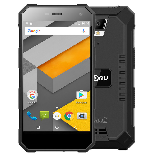 IP68 Nomu S10 Mobile Phone 5'' Android 6.0 Quad Core MTK6737T 2GB+16GB Smartphone 5000mAh Quick Charge 1280x720 Waterproof