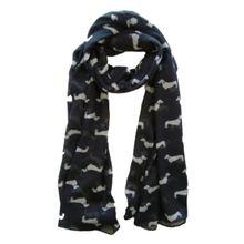 Сосиска такса собака животное Дамский шарф шаль мягкий на ощупь 180x90 см черный