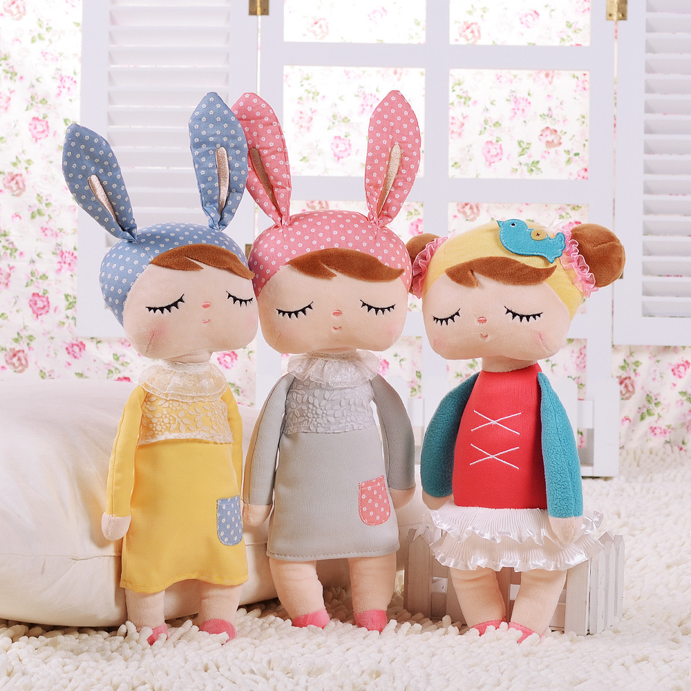 12 13Inch Metoo Doll Accompany Sleep Retro Angela Rabbit Plush Stuffed Animal Kids Kawaii Children Birthday