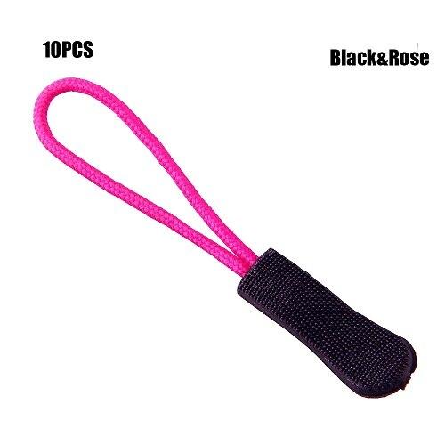 10 шт. фиксатор для застежки-молнии, фиксатор для веревочной бирки, сменный зажим, сломанная Пряжка для шитья одежды, дорожные сумки - Цвет: Black-Rose
