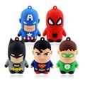 5 guerreiros herói Superman SpiderMan Batman Ironman 4 gb 8 gb 32 gb 64 gb pendrive pen drive usb flash drive com h2testw livre navio