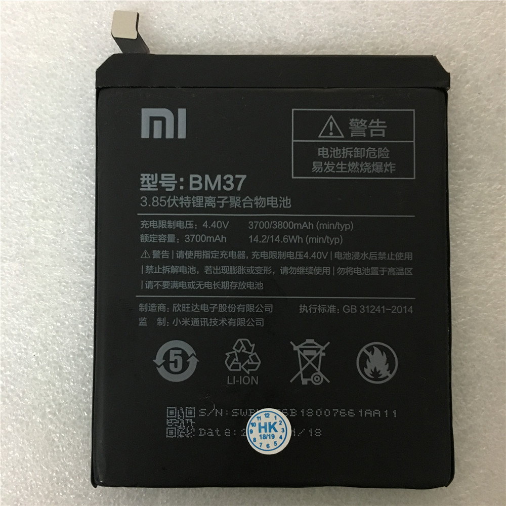 Mobile Phone Batteries Mobile Phone Parts Considerate 100% Original Backup New Bm37 Battery 3800mah For Xiaomi Mi5s Mi 5s Plus Battery In Stock With Tracking Number