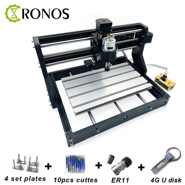 CNC 3018 Pro+Offline CNC Engraving Machine,Pcb Milling Machine,Wood Router,Laser Engraving,CNC Router GRBL Control,Craved metal