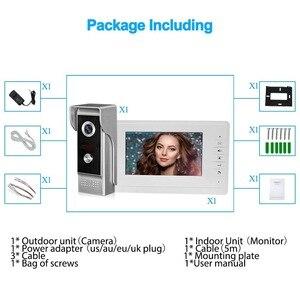"""Image 5 - Videoportero de 7 """"con cable sistema de entrada de puerta de vídeo para el hogar, impermeable, IR, cámara de visión nocturna, Audio bidireccional con Monitor 1or2"""