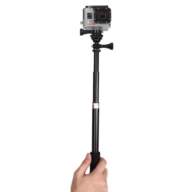 Waterproof Monopod Tripod Telescoping Extendable Pole Handheld Tripod Mount Selfie Stick for GoPro Hero 2/3 Action Video Camera