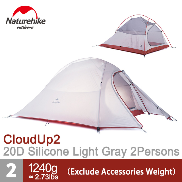 Naturehike 2 Persons Camping Tent Waterproof Ultralight Tents Lightweight Double Layer 2 Man Tent  Free Footprint NH15T002-T20D