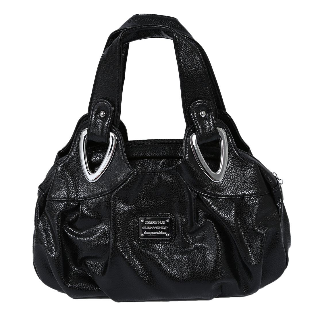Fashion handbag Women PU leather Bag Tote Bag Handbags Satchel -Matte Black