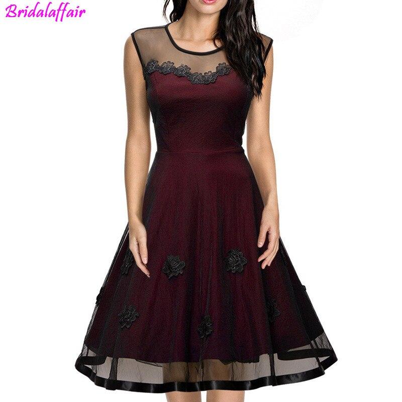 Short Sexy Burgundy   Prom     Dresses   2019 Appliques Vestido De Formatura Short Cheap A-Line Custom Size   prom     dresses   short