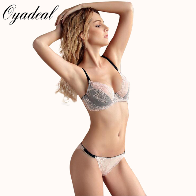 5ba42bac3e Oyadeal lady Sexy Ultra-Thin Breathable Plus Size Bra Brief Sets Lace  Embroidery lingerie Bra
