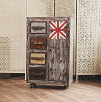 Retro Wooden Bedside Bed Wooden Storage Cabinets Made Of Old Living Room Bedroom Cupboards Ornaments Accessories