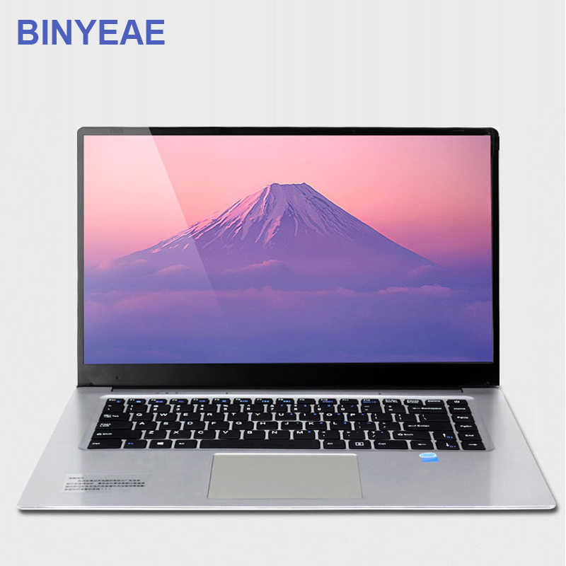 BINYEAE Laptop 15.6 inch 6GB RAM 128GB 256GB 512GB SSD Ultrabook Gaming Laptops Intel J3455 Win10 OS Notebook Computer