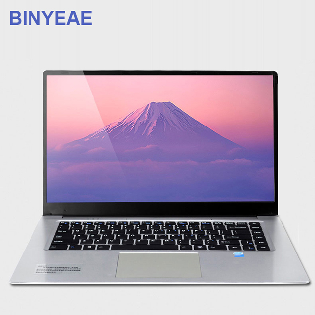 BINYEAE Laptop 15.6 inch 6GB RAM 128GB 256GB 512GB SSD Ultrabook Gaming Laptops Intel J3455 Win10 IPS Screen Notebook Computer
