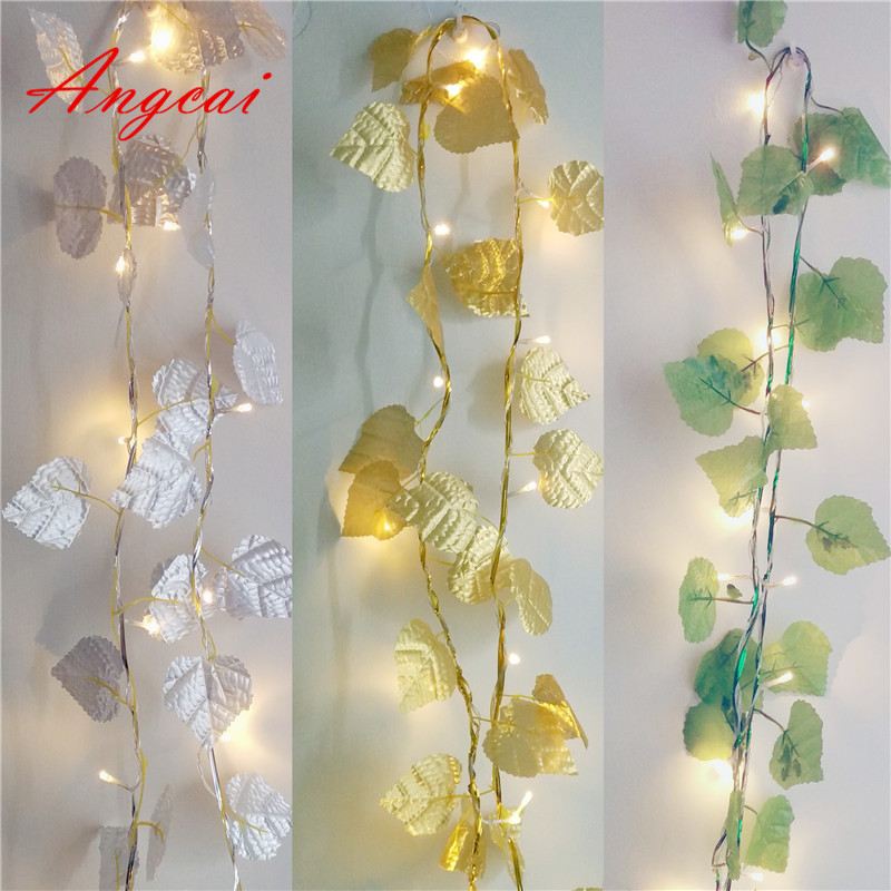 Grape Leaves LED Fairy String Lights USB DC5V Garland Indoor Patio,Wedding,Party And Decoration