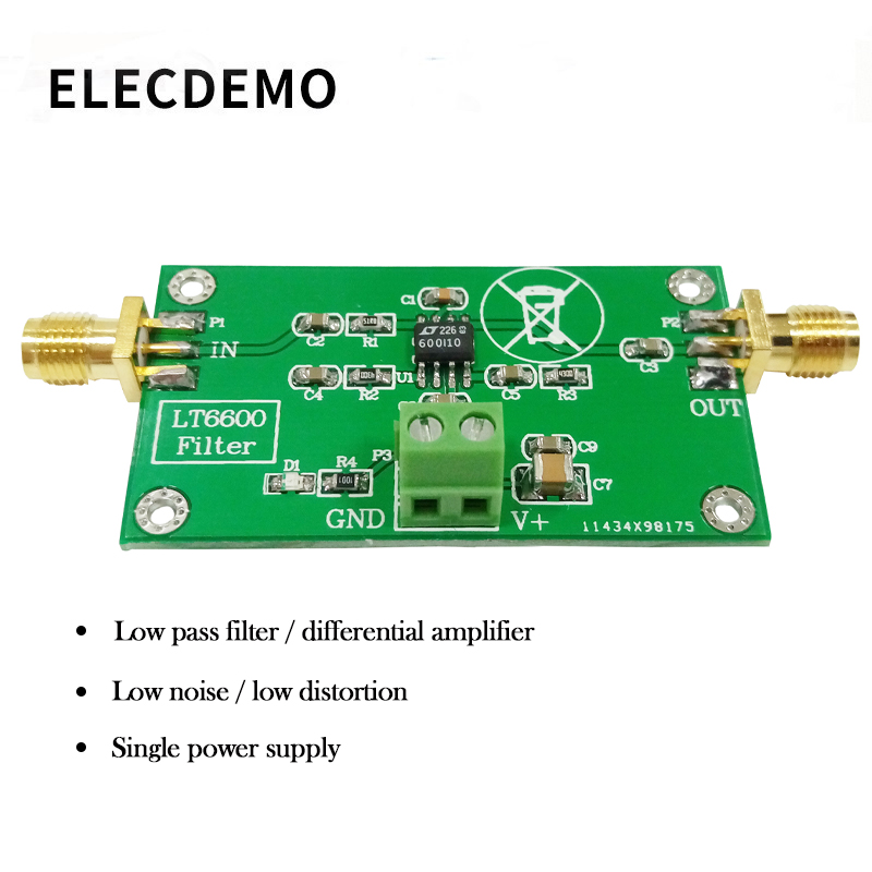 LT6600 Low Pass Filter Module Differential Amplifier Low Noise Low Distortion DAC Filter Processing-in Demo Board Accessories from Computer & Office
