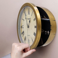 Creative Hidden Secret Wall Clock Safe Money Stash Jewellery Stuff Container Jewelry Storage Box Container Fashion