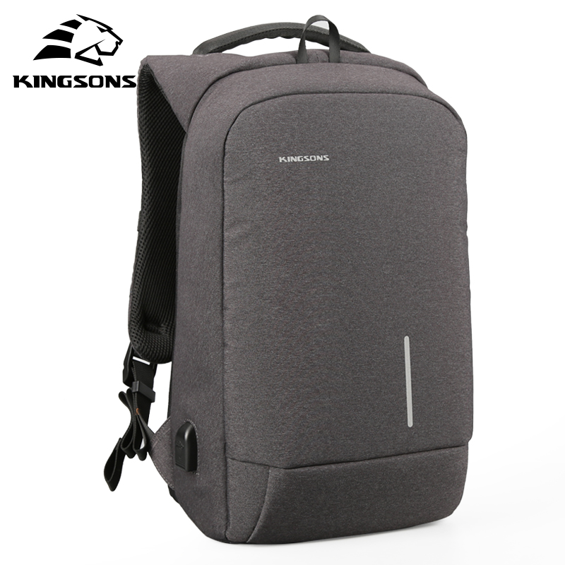 Kingsons 2018 New Business Men Backpack Laptop Travel Bag Casual Anti Theft Fashion Backpack Male Mochila Bagpack Pack Design benq benq gp3 ультрапортативный белый