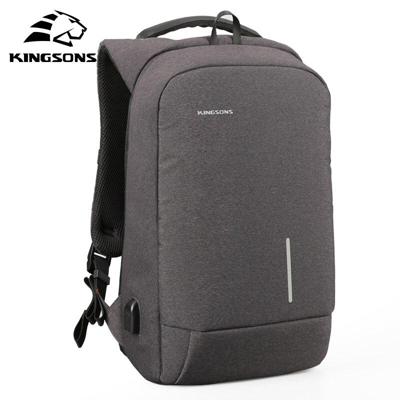 Kingsons New Men Business Backpack Laptop Travel Bag 13 15 Large Capacity Casual Male USB Bagpack For Teenager mochila hombre swiss backpack women 15 6 laptop bag men casual business travel waterproof black stylish mochila feminina bagpack sw6017v