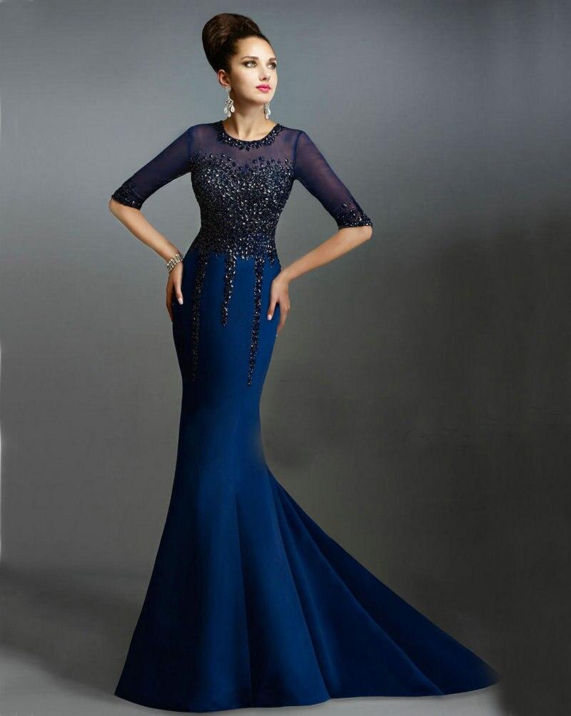 Vestidos de fiesta azul con negro