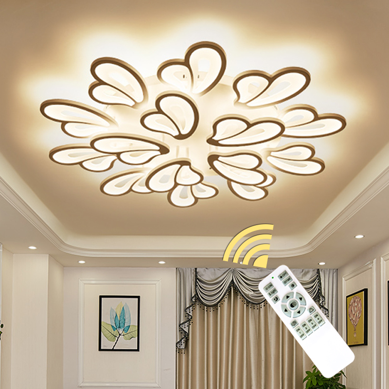 white finished Modern Chandelier Lighting For Living Room Bedroom Dining Room Surface mounted home lighting chandeliers