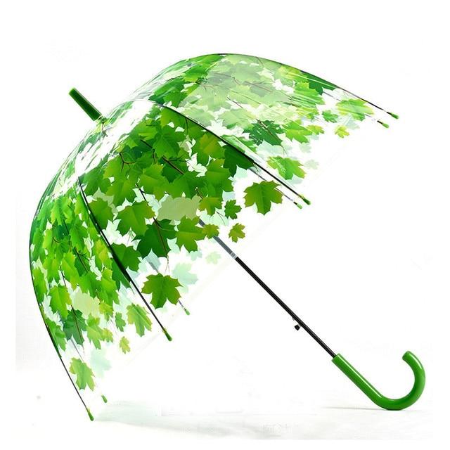 Umbrella Transparent Leaves Mawgie