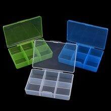 Пластиковый 6 отсек контейнер, коробка для таблеток для лекарств таблетница баночка для таблеток Органайзер кейс случайный цвет