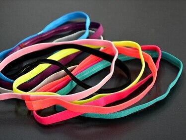 1pcs Thin Sports Elastic Headband Softball Soccer Yoga Hair Band Rubber Anti-Slip Women Hair Accessories Bandage Scrunchy
