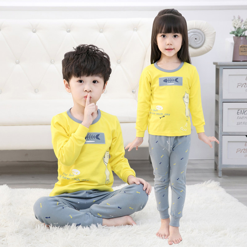 2-13T Childrens Cartoon Pajamas Set Cotton Sleepwear For Kids Winter Boys Girls Pyjamas Baby Clothes Cute Pijamas Home Clothing2-13T Childrens Cartoon Pajamas Set Cotton Sleepwear For Kids Winter Boys Girls Pyjamas Baby Clothes Cute Pijamas Home Clothing