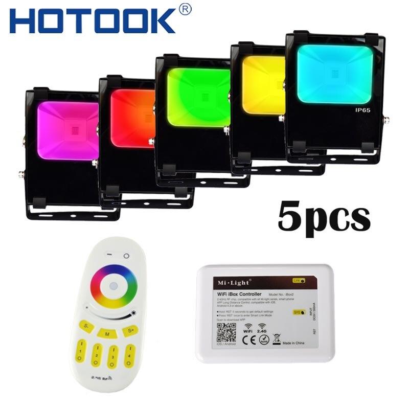 HOTOOK Mi. lumière éclairage LED RGB CCT Wifi Kit de lumière d'inondation IP65 étanche 30 W 50 W 4 zones réflecteur Dimmable projecteur extérieur