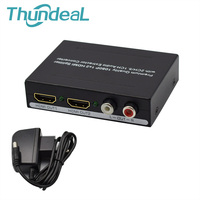 2 Ports 1080P 1x2 HDMI Splitter 2CH/5.1CH Spdif Toslink+L/R Audio Extractor Converter for XBOX PS3 PS4 Smart HD HDMI Splitter