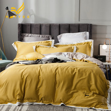 RUIYEE brand comfortable bedding long-staple cotton 60s embroidery bed set King size suite duvet cover sheets pillowcase