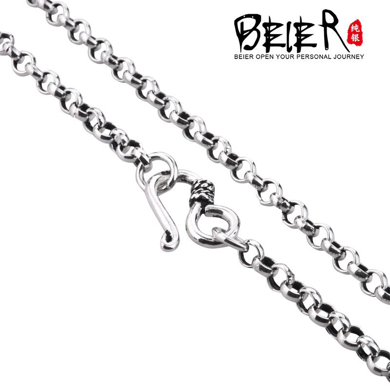 super quality 925s sterling silver men u0026 39 s match necklace chain for man woman personality vintage