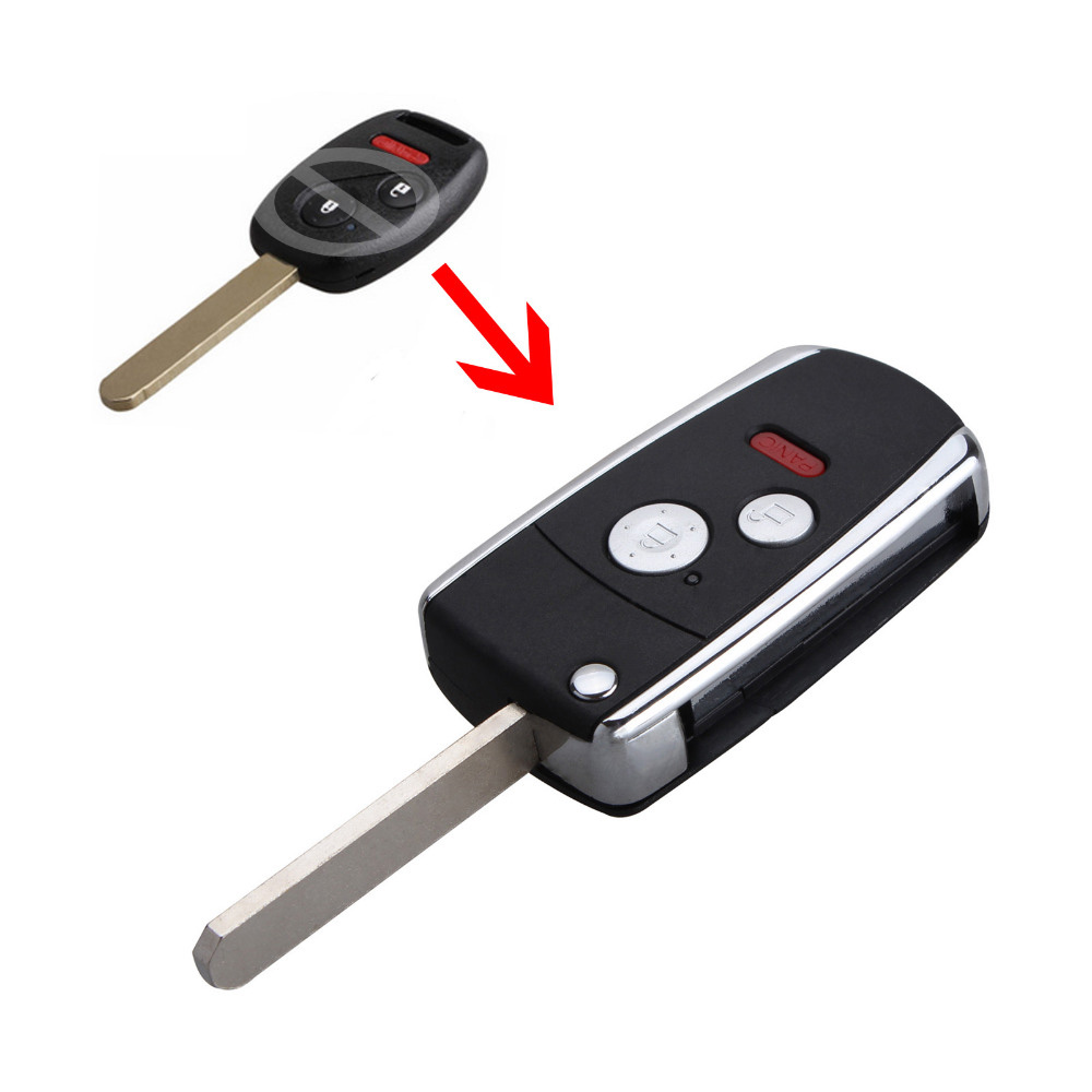 Honda Civic Key Replacement >> Us 3 63 25 Off 2 1panic Buttons Remote Key Fob For Honda Civic Odyssey Ridgeline 3buttons Flip Folding Case Shell In Car Key From Automobiles