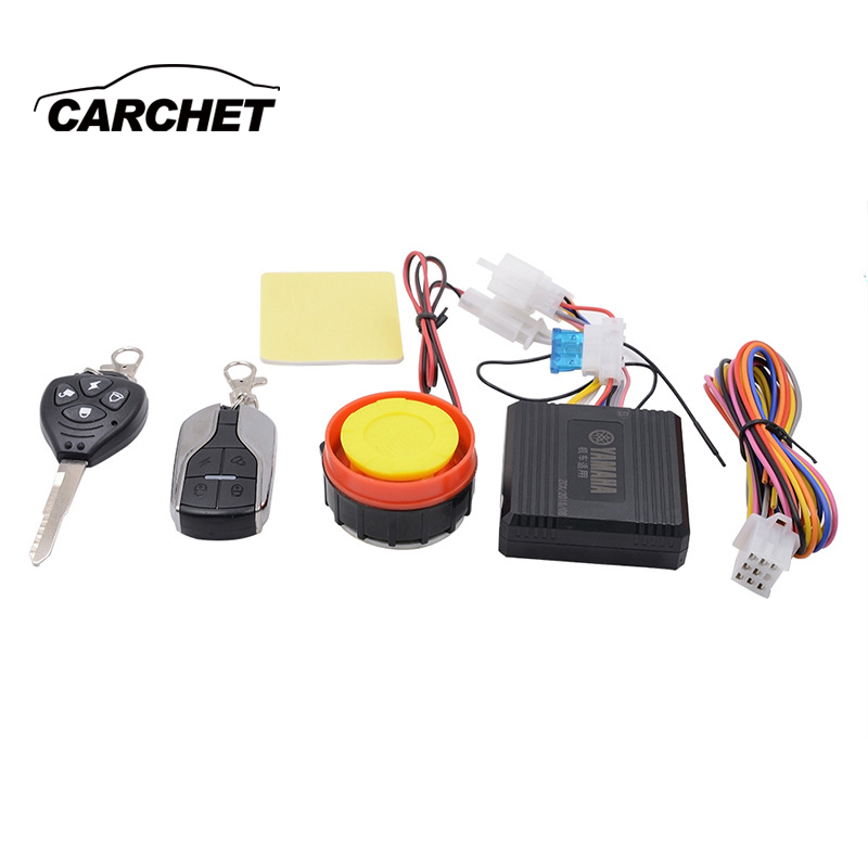 CARCHET Universal 12-24V Moto Bike Anti-theft Security Alarm System Motorcycle Theft Protection Scooter Remote Control Speaker