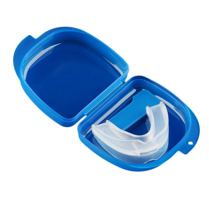 1 Set Mouth Guard Stop Teeth Grinding Health Care Tool Silicone Bruxism With Case Box Sleep Aid Kits