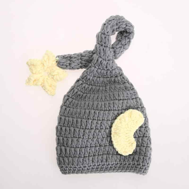 Neugeborenen Fotografie Requisiten Baby Häkeln Gestrickte Weiche Hut Beanie Mädchen Jungen Handgemachte Kappe Infant Foto Requisiten Zubehör 0-4 monate