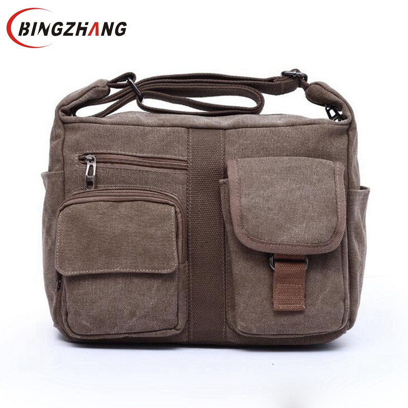 2017 new canvas bag handbag men oblique satchel men messenger bag shoulder bag crossbody bags fashion