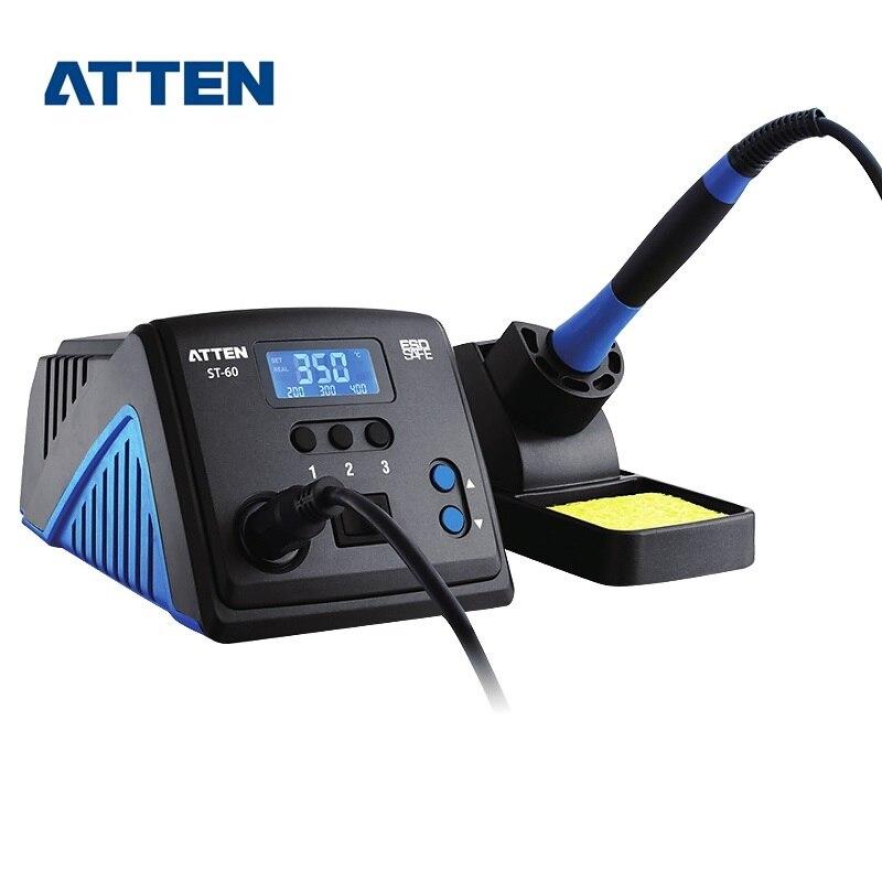 Estação De Solda ATTEN Inteligente e Lead-free Elétrica LED Display Digital ST-60 ST-80 ST-100