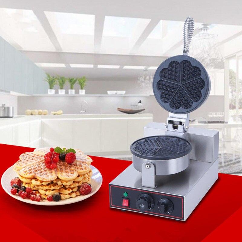220 В/110 В Высокое качество коммерческих нержавеющей стали электрические вафельница 1200 Вт в форме сердца вафельница