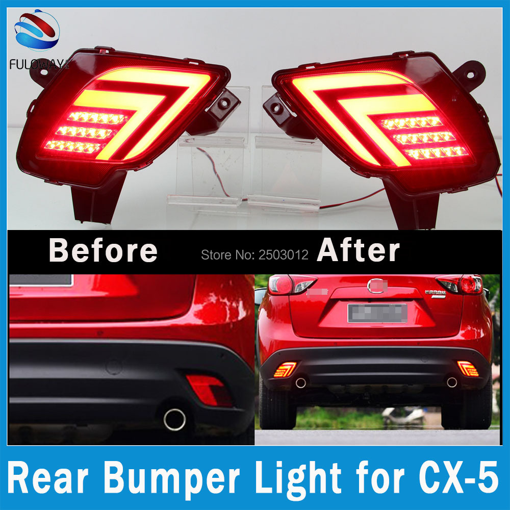 Multi-function For Mazda CX-5 2012-16 LED Tail Lights Assembly Rear Bumper Lights Brake Fog Lamp DRL Warning Light Car Styling oem fog lights halogen lamp kit for 2016 mazda cx 5 ka0h v4 600