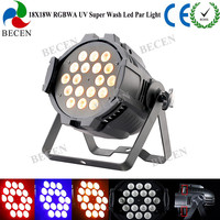 RDM Support 18x18w rgbwa uv 6in1 LED Par Can light 50 degree Super Wash No flicker with Powercon