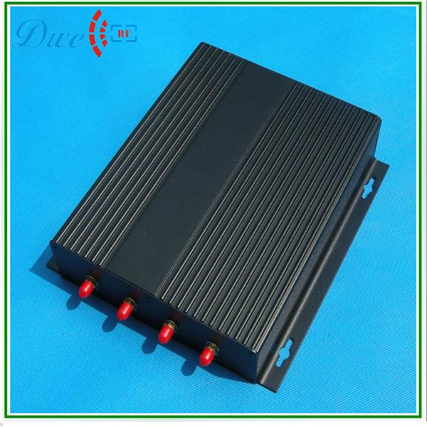 linear polarization antenna 860mhz to 960mhz long range rfid 4 port antenna uhf reader 860mhz 960mhz usb rfid card reader writer read range up to 0 1m depends on the tag for access control system