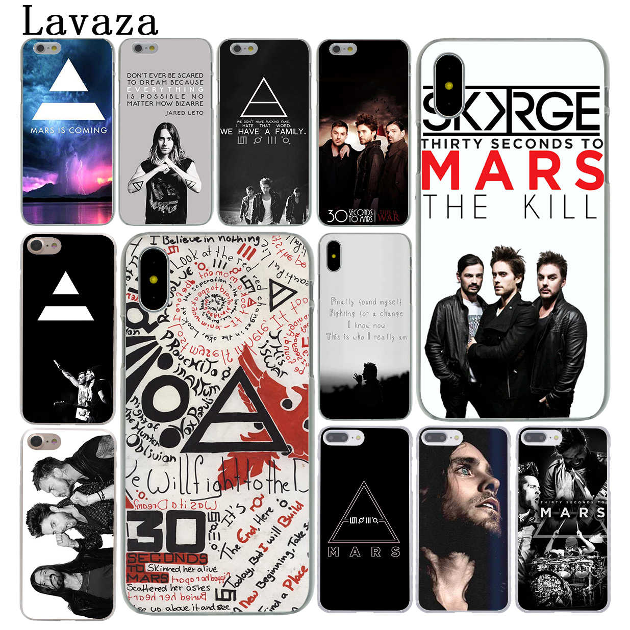 Lavaza 30 30STM Seconds To Mars Caso Capa Dura para o iPhone Da Apple X XS Max XR 6 6 s 7 8 Plus 5 5S SE 5C 4S 10 8 Além de Casos de Telefone